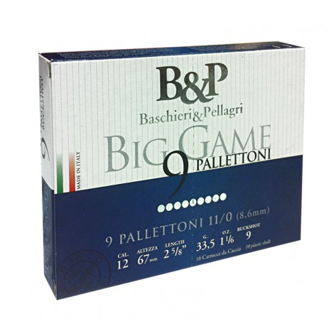 Cartucho Posta B&P Caza Big Game Pallettoni