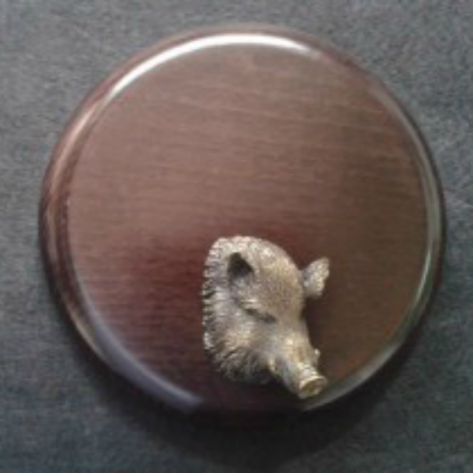Cabeza de jabalí - oscura