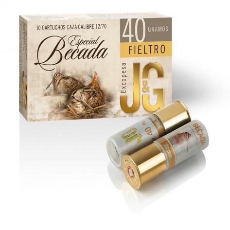 Cartucho J&G Caza Becada Fieltro 40 gr.