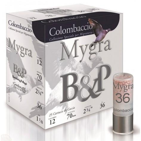 Cartucho B&P Caza Mygra Colombaccio 36 gr.