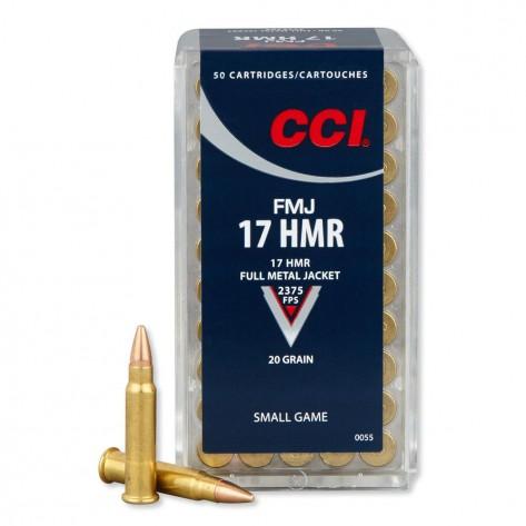 Munición anular CCI 17 HMR FMJ