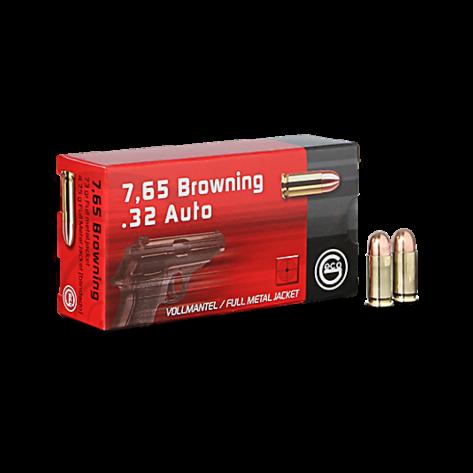Munición Geco 7,65 Browning - .32 Auto FMJ