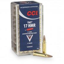 Munición anular CCI 17 HMR TNT